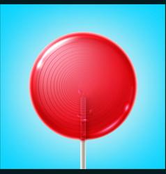 big pink lollipop vector image