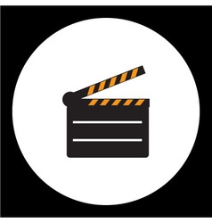black film movie flap simple icon eps10 vector image