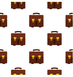 Brown leather briefcase pattern seamless vector