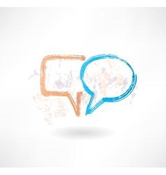 Brush empty speech bubbles icon vector image