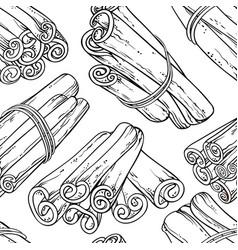 Cinnamon seamless pattern vector