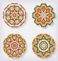 circles kaleidoscopes vector image