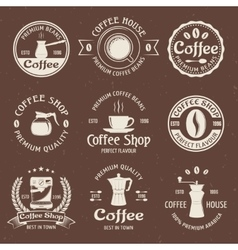 Coffee Emblem Set In Color vector