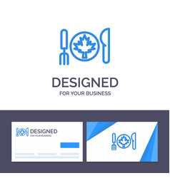 Creative business card and logo template dinner vector
