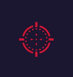 crosshair red on dark background vector image