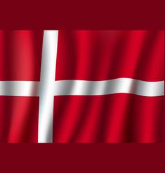 Denmark national flag with white cross vector