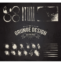 Dirty Grunge Elements Set vector image vector image