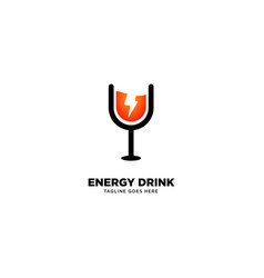 Energy drink logo template icon element vector