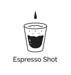 Espresso coffee shot vector