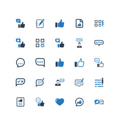 feedback icons - blue version vector image