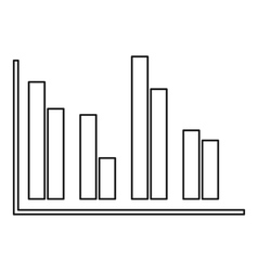 Financial analysis chart icon outline style vector
