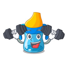 fitness character baby training cup with handles vector image