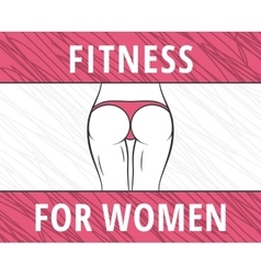 Fitness woman banner vector image