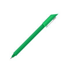 Flat icon of bright green ballpoint pen vector