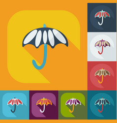Flat modern design with shadow icons umbrella vector