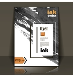 Flyer brochure with ink stains vector