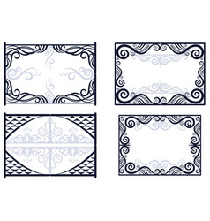 Frames with abstract pattern vector