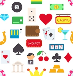 Games of chance pattern stickers vector image