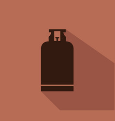 Gas bottle icon vector