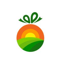 Gift farm logo icon design vector