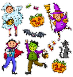 Halloween kids vector