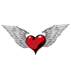 heart tattoo design vector image vector image