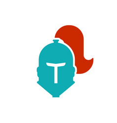 helmet knight icon head metal armor warrior iron vector image
