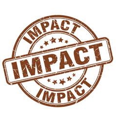 Impact brown grunge stamp vector