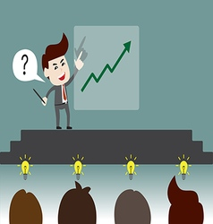 Improvement meeting vector image