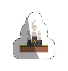 Isolated biohazard chimney design vector image
