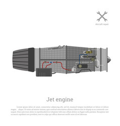 jet engine in a flat style part aircraft vector image