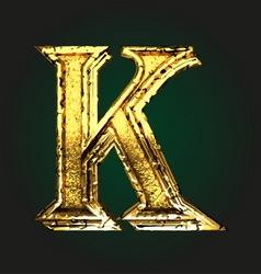 K golden letter vector