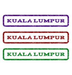 kuala lumpur watermark stamp vector image