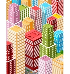 Large business city vector
