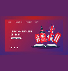 Learning english or travelling to great britain vector