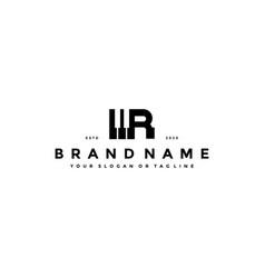 Letter r piano logo design vector