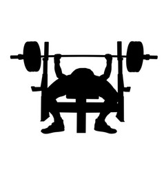 Male athlete bench press vector