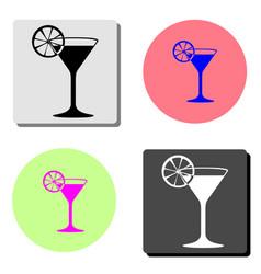 martini glass flat icon vector image