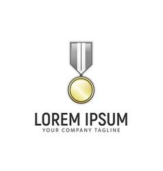 medal logo design concept template vector image