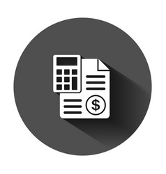 Money calculation icon in flat style budget vector
