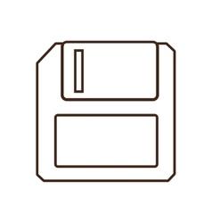 Monochrome contour floppy disk computer vector