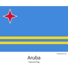 National flag of aruba with correct proportions vector