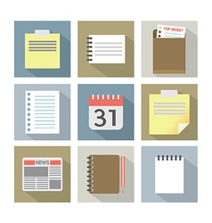 Office Document Icons vector