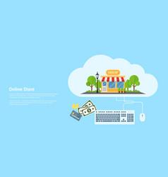 online store banner vector image