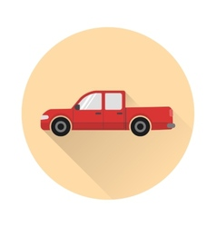 Pickup truck icon vector image