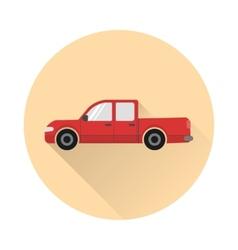 Pickup truck icon vector