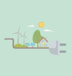 plug and save energy icon set design vector image