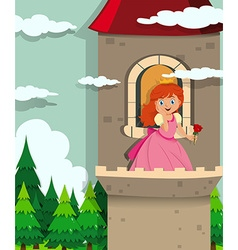 Princess on the tower vector image