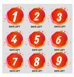 promotional banner with number of days left signs vector image