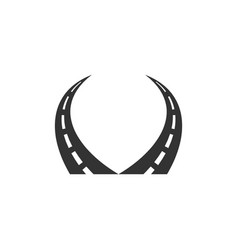 Road logo template design vector